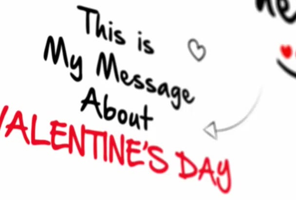 do a romantic Valentines Day video