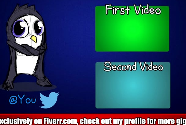 make a clean, professional Youtube outro