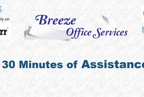 provide a half hour of office assistance