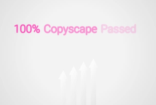 provide Copyscape Passed High Quality Written Content