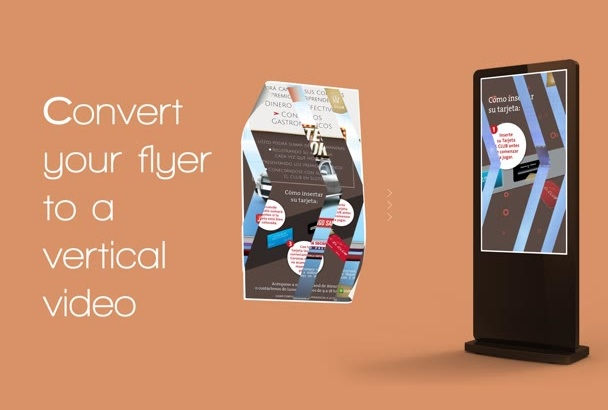 convert your flyer or banner in a video