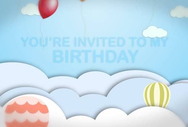 make this birthday video invitation for you