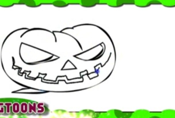 amazing greetings  video animation for HALLOWEEN