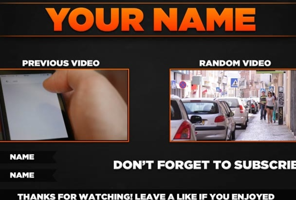 youtube outro Video in hd with your videos