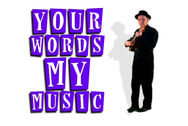 sing your words or poem with a ukulele