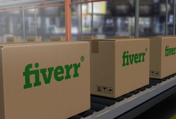put your BRAND on boxes on a conveyor belt