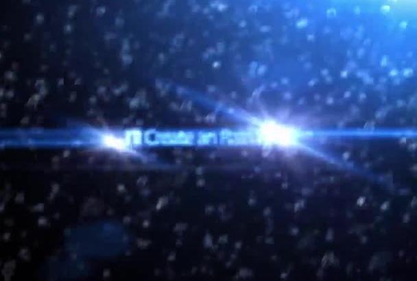 create astonishing Rain Drop 3d intro in Full HD 1080P