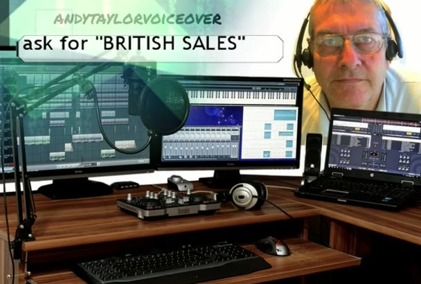 provide a professional voiceover, deep British male voice
