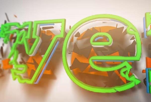 create a growing logo intro animation