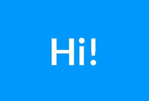 make sales video marketing using animated kinetic typography