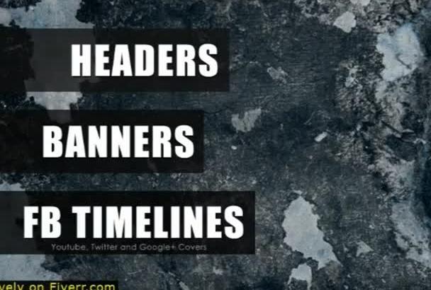 design a KILLER Header, Banner or Facebook Timeline Cover