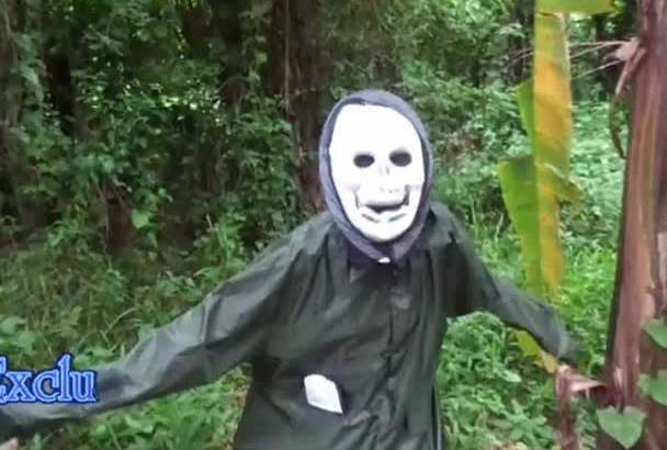 do funny ghost dance and show your message