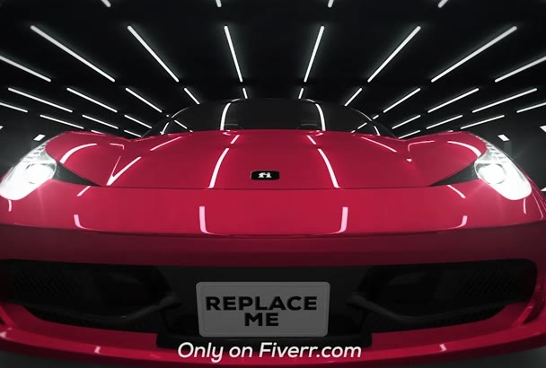 create intro and reveal logo by car