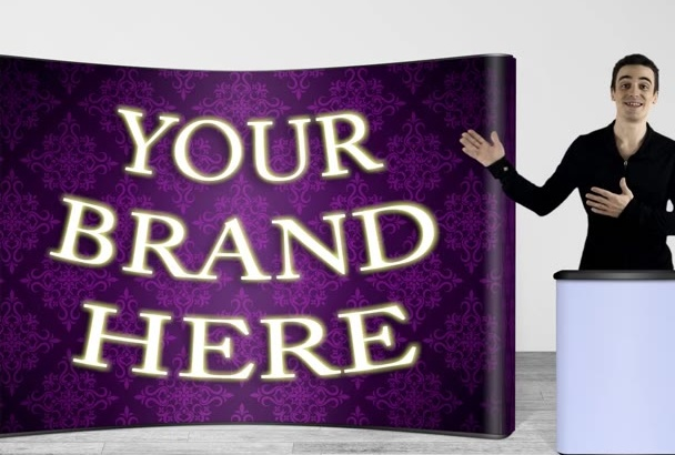 make a trade show booth or exhibit booth VIDEO presentation