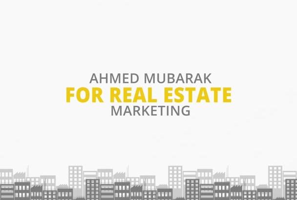 design real Estate Intro, promo or marketing video