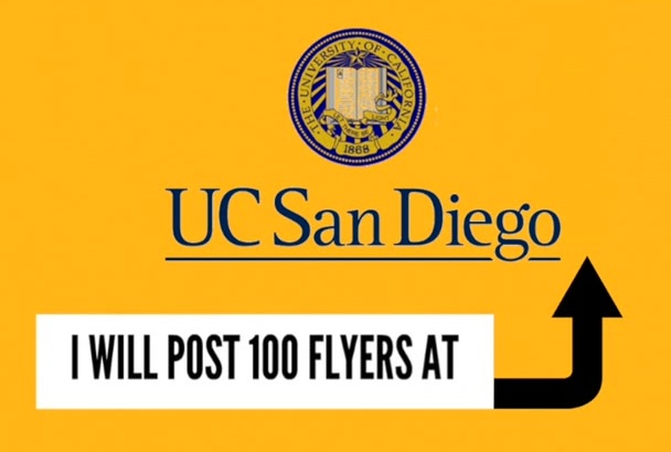 post 100 Flyers at UCSD San Diego