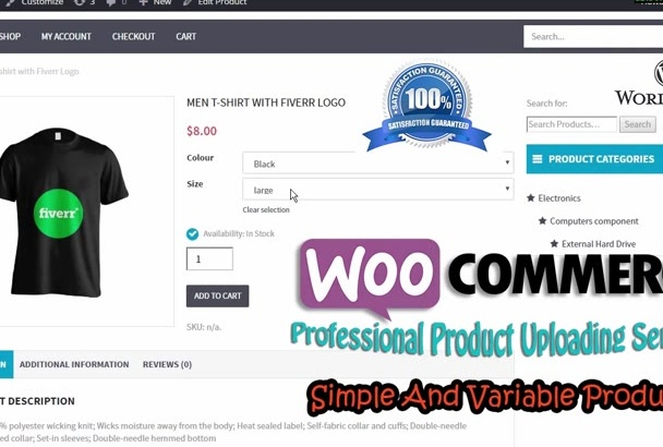 add 100 Products to WooCommerce Store
