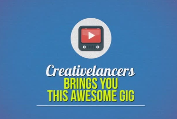 create An animated video for your service