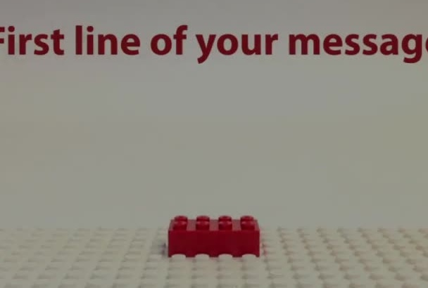 make this awesome lego stop motion video animation with your text and logo
