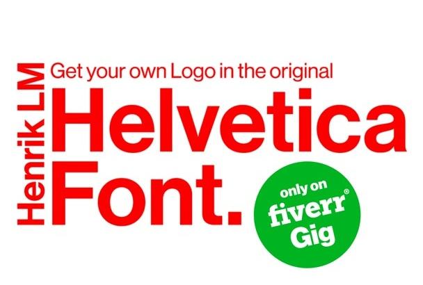 design a classic logo using the original Helvetica font