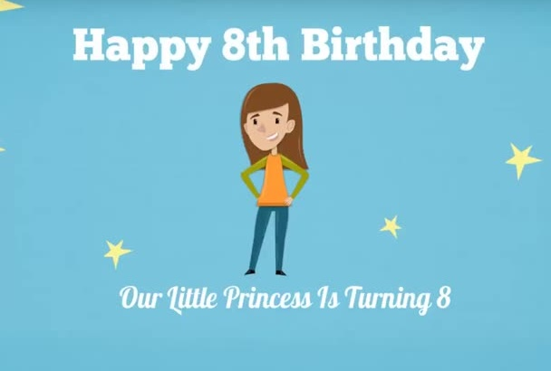 make cool animation video to invite guest at Birthday Party