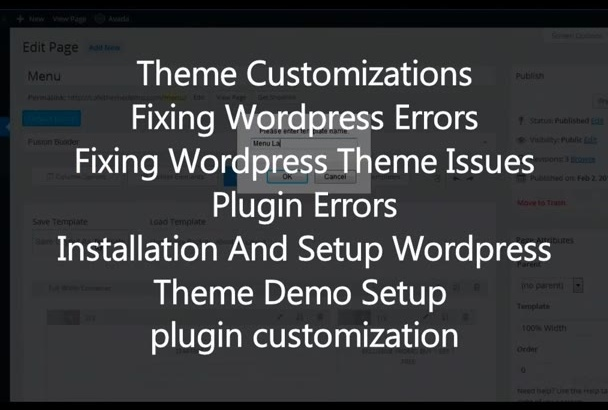 customize any wordpress theme with your content or demo