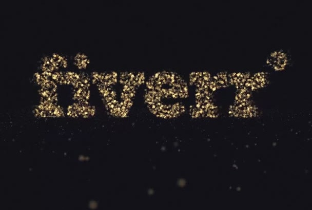 create 5 Gold Particles Logo Intro