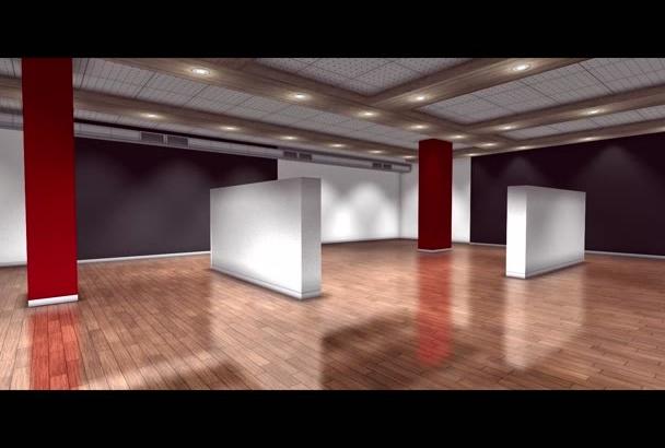 hacer un video de una galería de arte con 33 fotos, pinturas