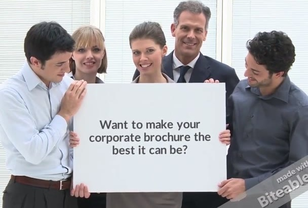 revise and perfect your corporate brochure in Word or PDF
