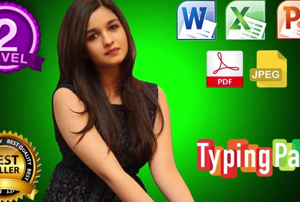 do any data entry work, pdf to word or excel, copy paste etc