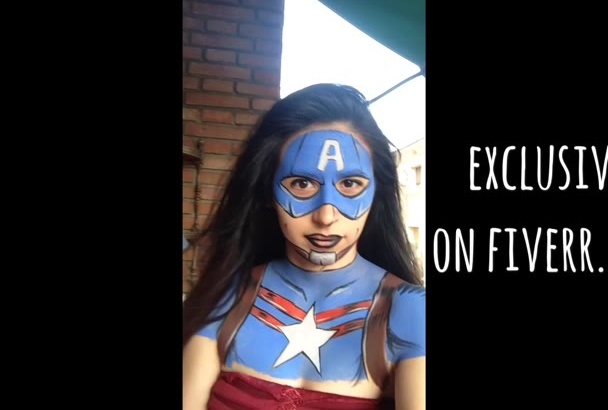 hold a sign or Write on my Real Super Hero paint body