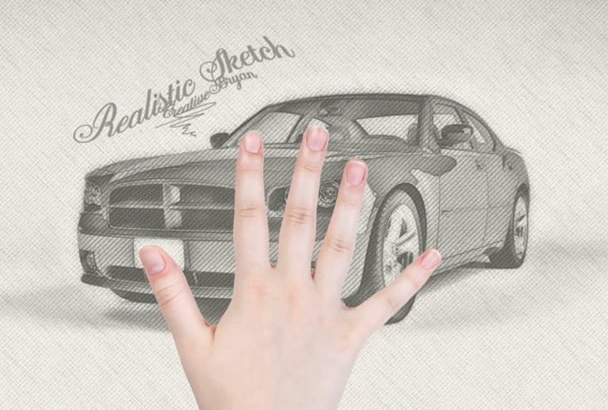 create realistic pencil drawing from your photo in 24 hours