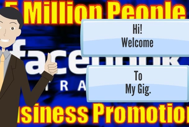 promote your business on over 5 million facebook people