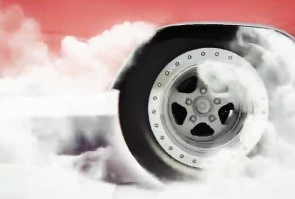 make car smoke logo intro