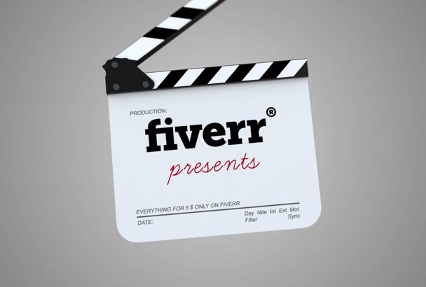 make 2 clapperboard intro for your business