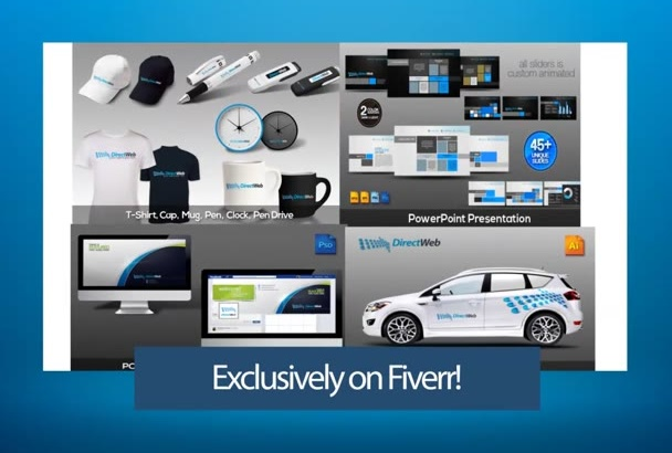 create COMPLETE  stationary,business card,letterhead design