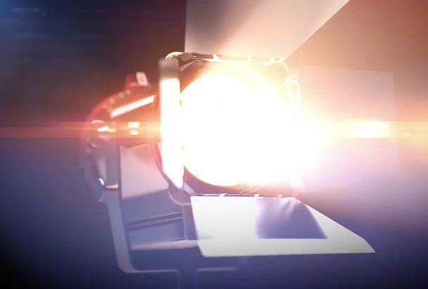 create Film Light Logo Reveal Intro Video