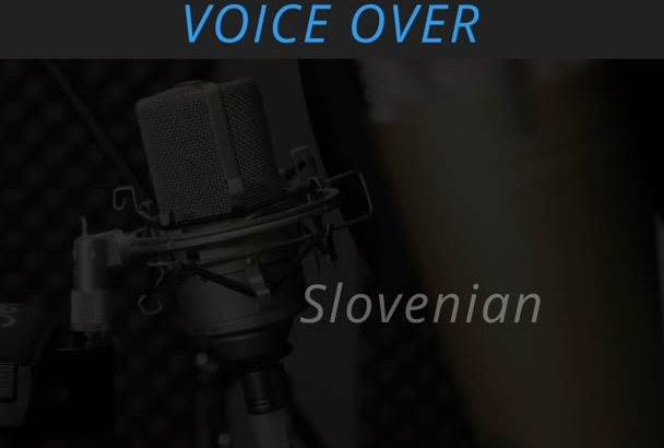 record a voice over in English or Slovenian