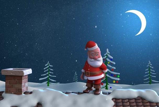 make an awesome Christmas logo intro greetings animation