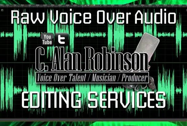 edit your raw VOICEOVER audio