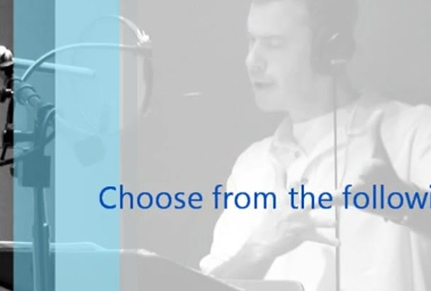 add a fun character or accent to your voice over project