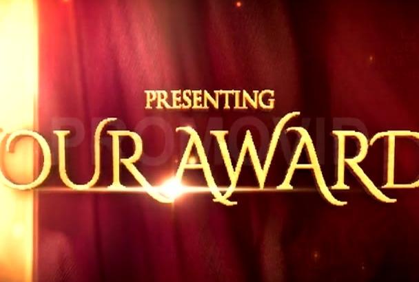 create a really classy AWARDS video