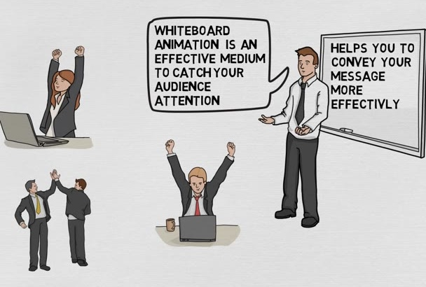 create awesome Whiteboard Animation Video