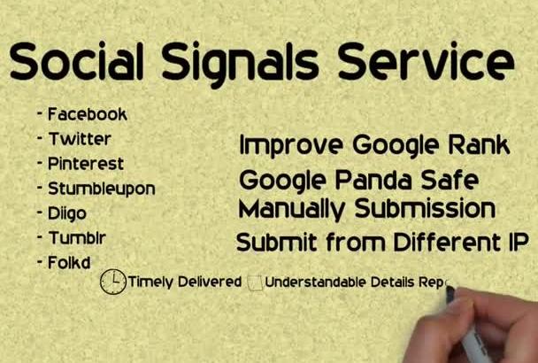 build high PR backlinks with Social Signals