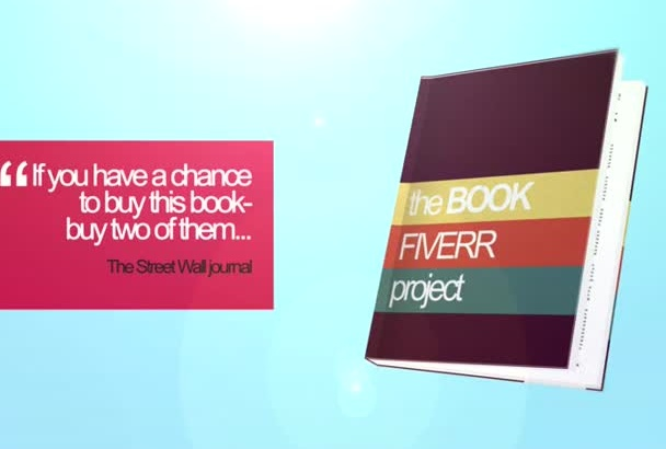 create this AMAZING 3d promo video for books, ebooks