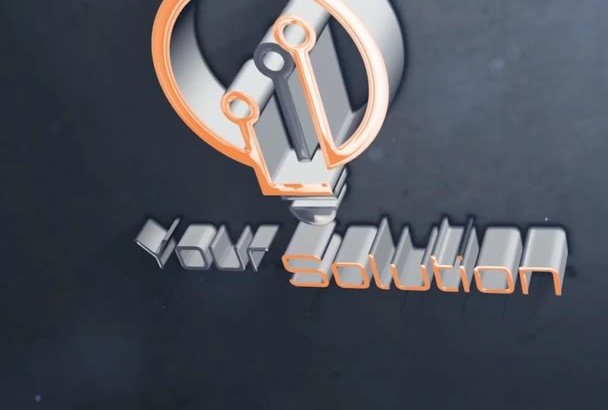 create cool 3D Glossy intro