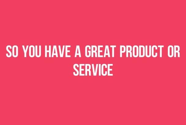 create a great sales presentation