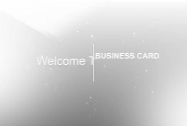 create a clean card video intro