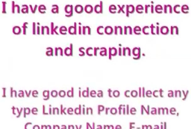 do any linkedin connection or scraping