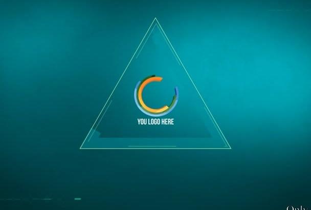 create a FUTURISTIC logo intro